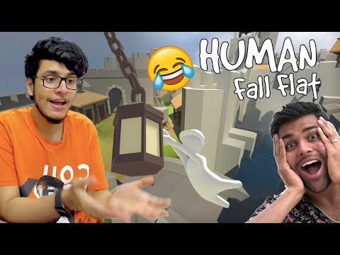 When Noobs Play HUMAN FALL FLAT [Funny Moments] with @DhiruMonchik