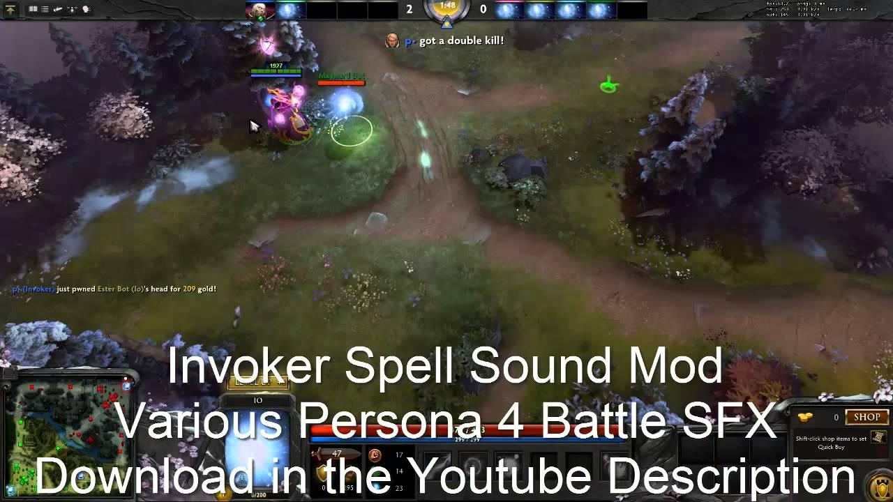 dota 2 sound mod invoker persona 4 various battle sounds youtube