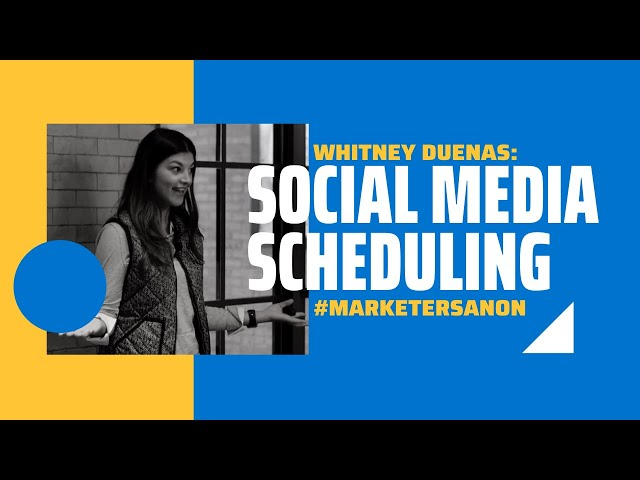 Social Media Scheduling is a Lifesaver - Whitney Duenas