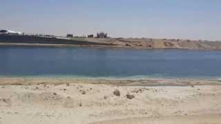 قناة السويس الجديدة منطقة  منصة الافتتاح والمعديات وتمثال الحرية يوليو 2015