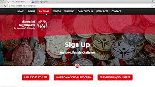 Step by instructions on how to sign up for and participate in the healthy lifestyle challenge.