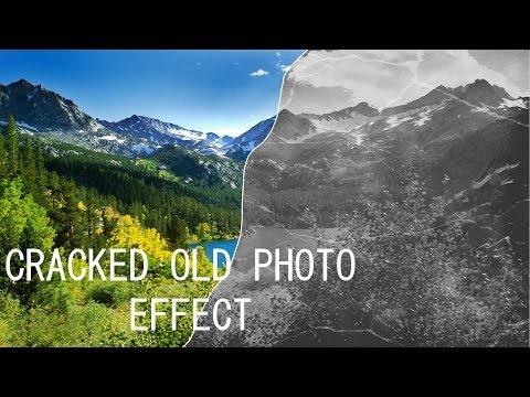 Photoshop CS6 Old Cracked Photo Effect
