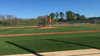 Carson Smith throws live BP at Red Sox camp, a lot of swing and miss
