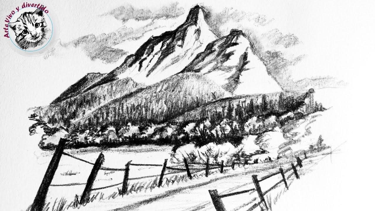 Como Dibujar Un Paisaje A Lapiz Paso A Paso Arte Vivo Y Divertido Tutoriales Y Técnicas De Dibujo Y Pintura Paso A Paso