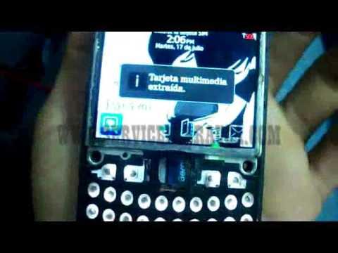 tarjeta de memoria que contiene errores blackberry