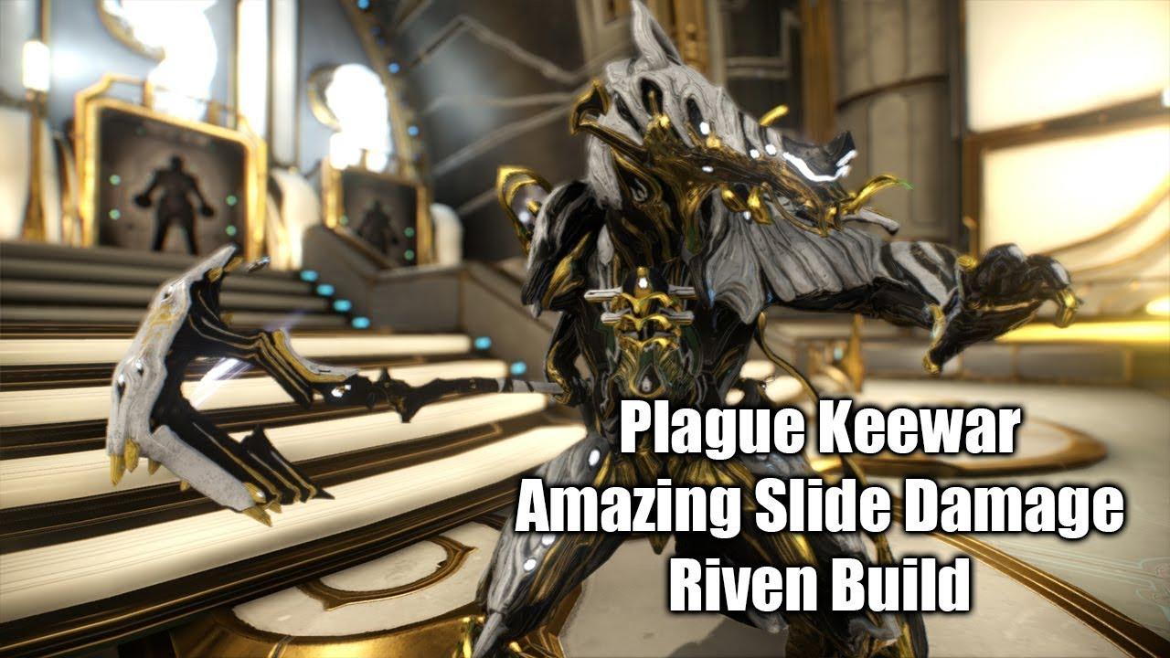 Warframe - Plague Keewar Zaw Riven Test Video (Critical ...
