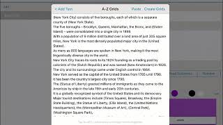 DocsPlus التطبيق - كيفية إنشاء A-Z Wordbar