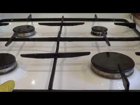 Как быстро отмыть решетку ГАЗОВОЙ ПЛИТЫ? Самый простой Рецепт.