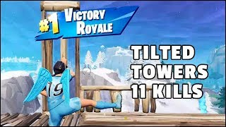 Fortnite Clinical Crosser Skin Gameplay (11 Kills Solo Win Royale) - Land at Tilted Towers