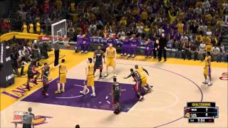 NBA 2K14 Pc Ultra settings HD gameplay Lakers-Heat