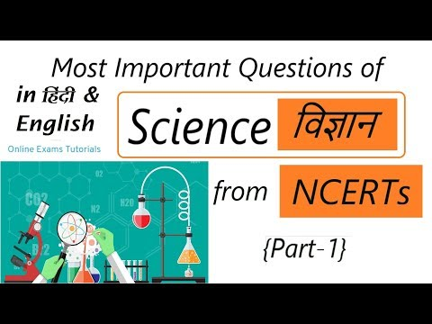 Science विज्ञान(NCERT) Most Important Questions Part-1 for All Exams