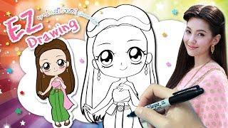วาดรูประบายสี แม่การะเกด ★ละคร บุพเพสันนิวาส ★คาวาอี้ น่ารักๆ★Chibi&Kawaii Style★BuppeSanNivas♥