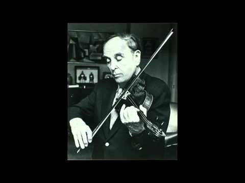 Joseph Fuchs in recital J S  Bach Chaconne in D minor for solo violin