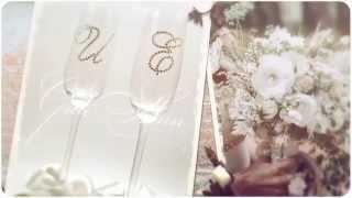 Свадебные бокалы со стразами Сваровски Gilliann GLS121
