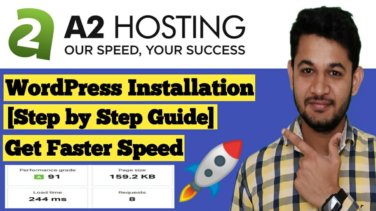 How to Install wordpress in A2  Hosting cPanel and Full Setup guide.