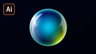 Как сделать светящийся шар в Adobe Illustrator. Часть 1