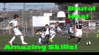 6-8 year old football/soccer kid with skills of Messi/Neymar/Ronaldo taking vicious hits