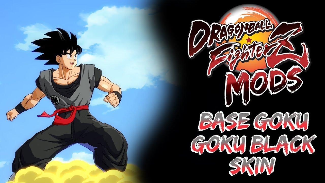 Base Goku Black Skin My Dbfz Mods Youtube