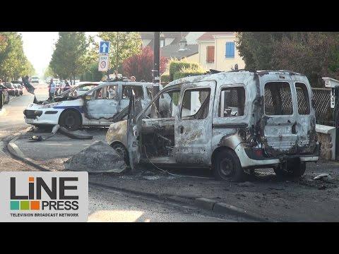Policiers blessés après attaque aux cocktails Molotov / Viry-Châtillon (91) - France 08 octobre 2016