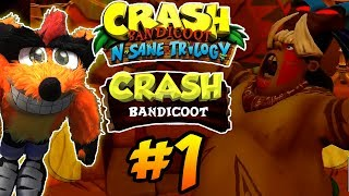 ABM: Crash Bandicoot N.SANE TRILOGY!! Playthrough 1 Crash Bandicoot!! HD PS4