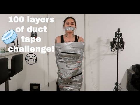 100 LAYERS OF DUCT TAPE CHALLENGE!!! (PAINFUL)
