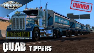 FIRST ROAD TRAIN OWNED !!!!    QUAD SIDE TIPPERS   AMERICAN TRUCK SIMULATOR
