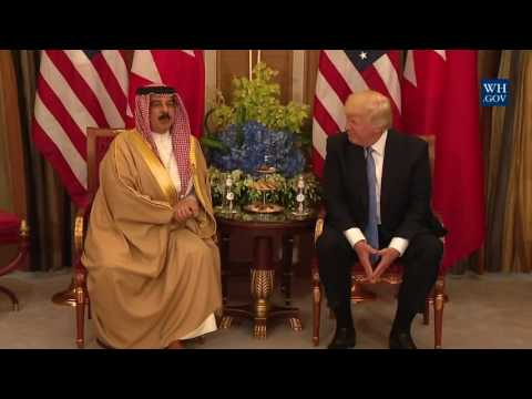 President Trump Participates in a Bilateral Meeting with the King of Bahrain