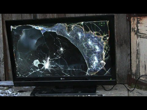 Smashing an LG 42LC7D AB 42'' LCD Television