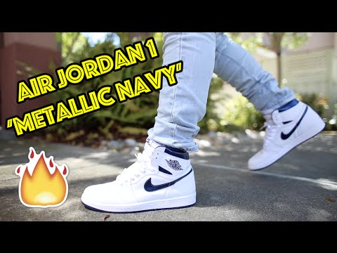 b9d19c6ed21a 2016 AIR JORDAN 1  METALLIC NAVY  REVIEW + ON FEET!!!  KINDAEARLY ...