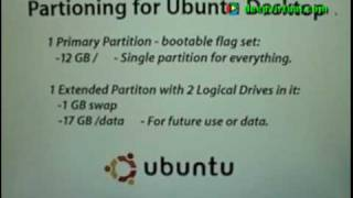 Partitioning & Installing Ubuntu Desktop Part 1/2