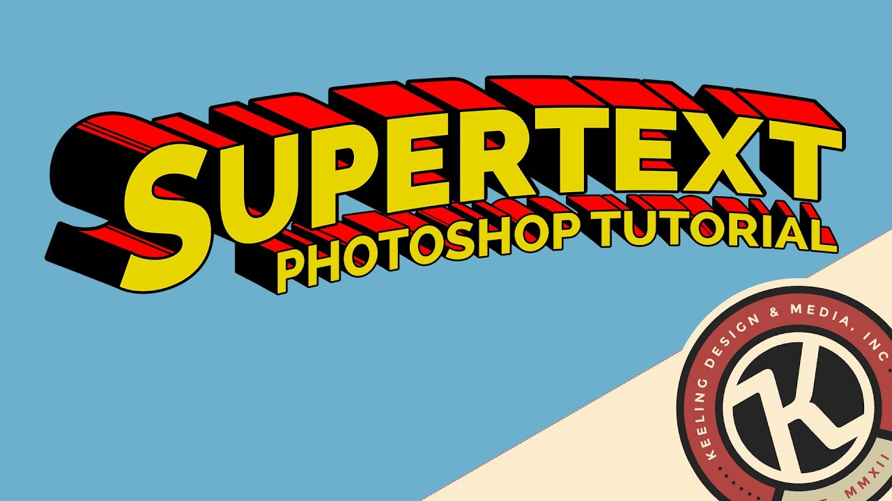 Photoshop Tutorial Supertext