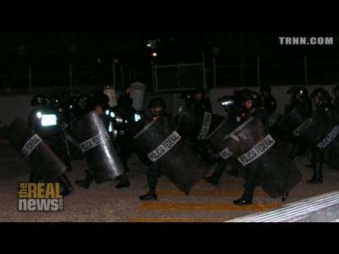 Mexican police storm miner's strike