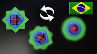 Origami: Brinquedo que Gira / Beyblade / Pião - Instruções em Português PT-BR