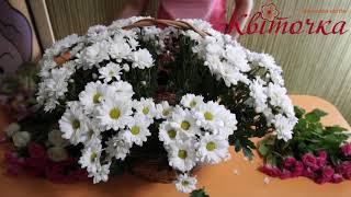 Корзина цветов на свадьбу: мастер класс