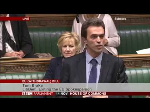 Tom Brake MP (LibDems) - European Union (Withdrawal) Bill, at Committee Stage (Day 1) - 14.11.2017
