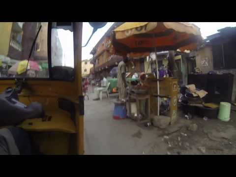 Tour of Lagos Island - with GoPro & Fela Kuti on radio...!!