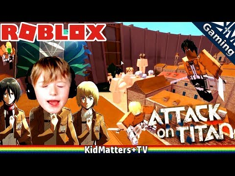 ATTACK ON TITAN IN ROBLOX! DOWNFALL   Let's Play Team Attack On Titans   Gameplay [KM+Gaming S02E14]