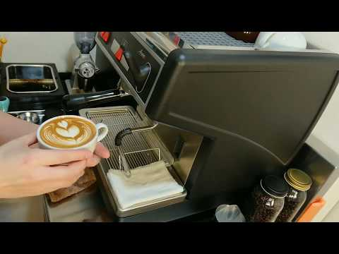 Nuova simonelli Appia 1 Group latte art Wing heart Pullman bigstep