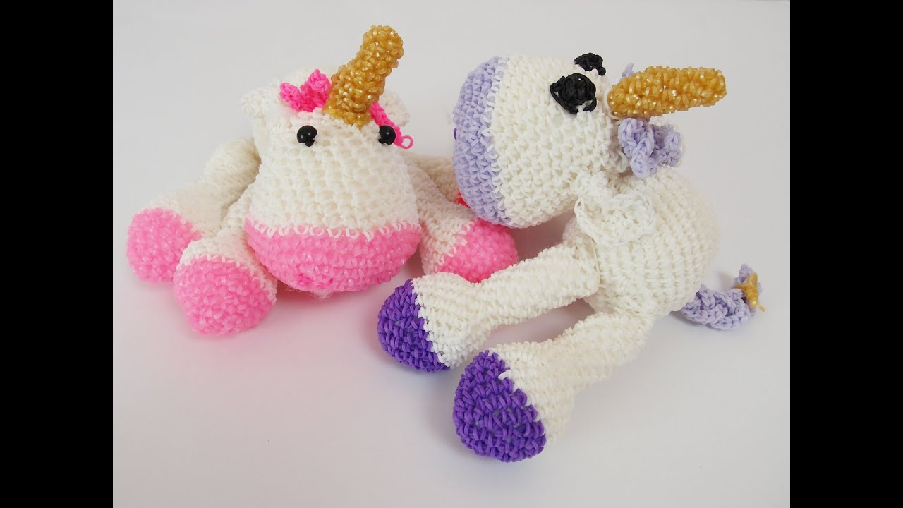 Rainbow Cuddle Unicorn Amigurumi Free Crochet Pattern | 720x1280