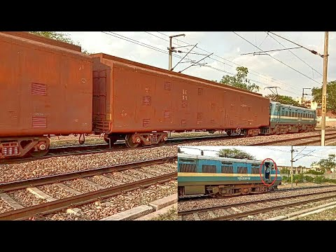 Thumbnail: RAREST Freight Train Operated By Lady Loco Pilot | BCCNR Rakes | LDH WAG-7 | Indian Railways