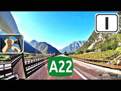 Italia. A22. ✕ Trento - ✕ A4 (Verona)