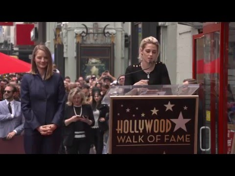 Jodie Foster Walk Of Fame Ceremony Speeches from Kristen Stewart & Others