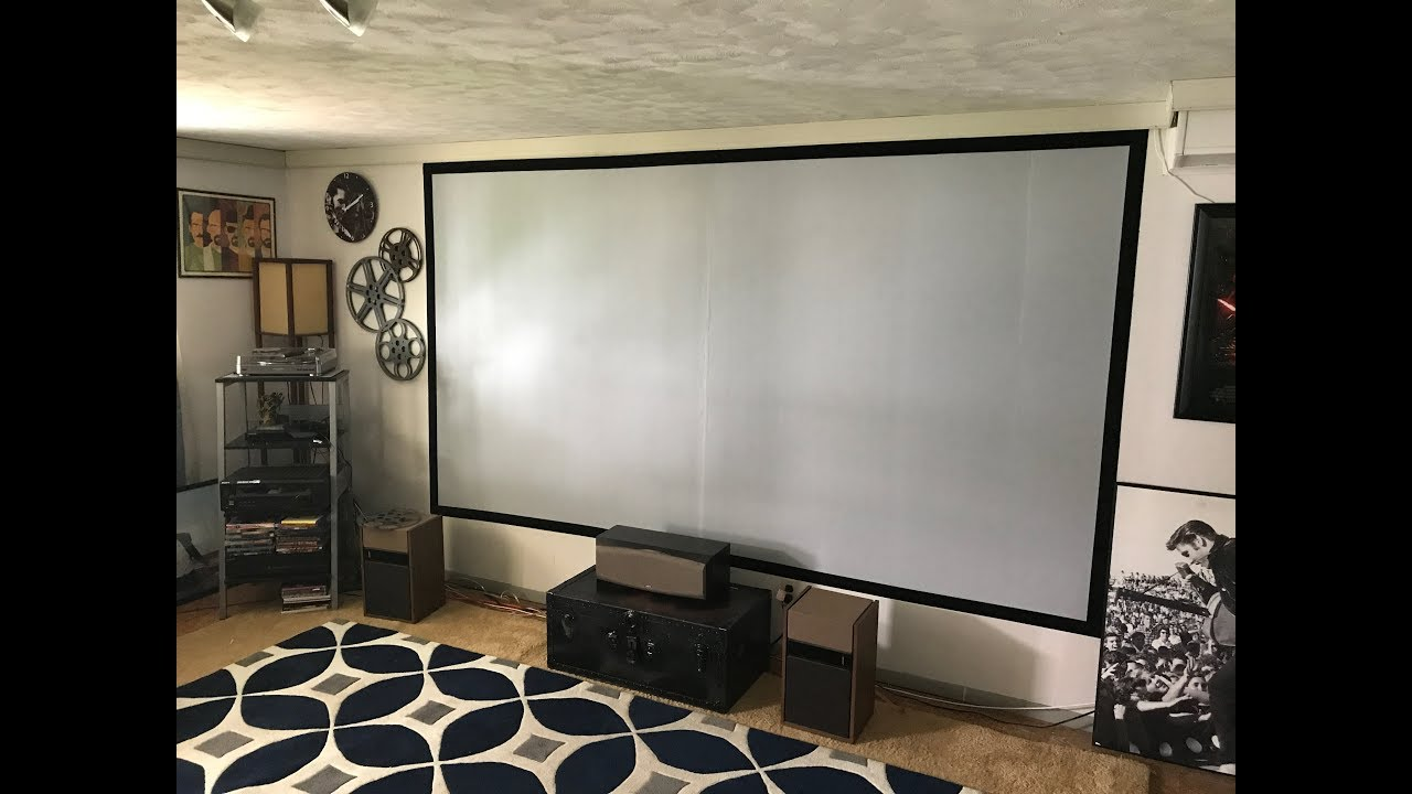 DIY painted movie projection screen with Epson projector ...