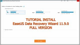 Tutorial Install EaseUS Data Recovery Wizard 11.9.0 Full Version