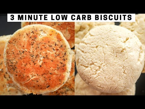 3 Minute Biscuits | How To Make Low Carb Butter Biscuits and Cheddar Biscuits For Keto