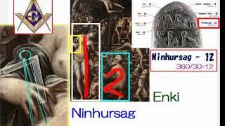 2867【04再】 Enki and Nihursag in Vasariヴァザーリの絵の中のエンキとニンフルサグ+イエスとマリアby Hiroshi Hayashi, Japan