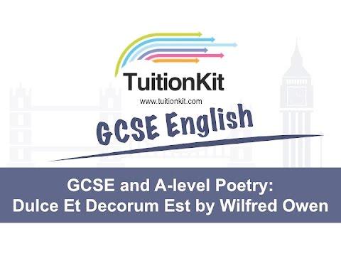 dulce et decorum est gcse essaygcse and a level poetry everything you need to know about dulce et decorum