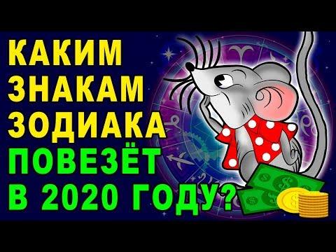 КАКИМ ЗНАКАМ ЗОДИАКА ПОВЕЗЕТ В 2020 ГОДУ. ГОРОСКОП УДАЧИ НА ГОД КРЫСЫ