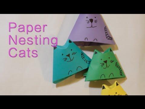 pop up cat card instructions