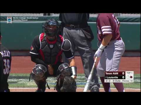 2017 NCAA CWS Baseball Texas A&M vs. Louisville